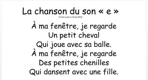 """La chanson du son """"e"""" - FRENCH- Song for the sound """"e"""""""