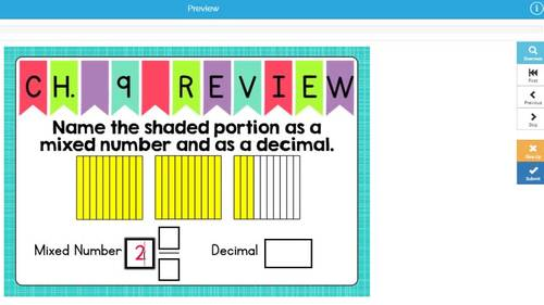 Go Math Chapter 9 Review Boom Cards: Relate Fractions and Decimals