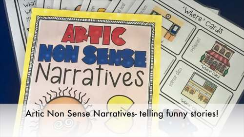 Articulation Activity: 'k' non-sense narratives for speech and language therapy
