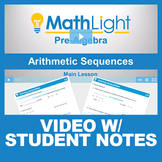 Arithmetic Sequences Video Lesson with Guided Notes