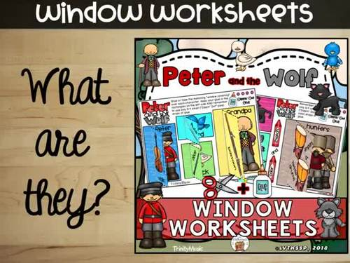 Peter and the Wolf Window Worksheets