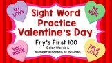 Sight Word Video & Slideshow, Fry's First 100, Valentines,