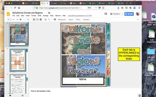 Regions and Climate of California {Digital AND Paper}
