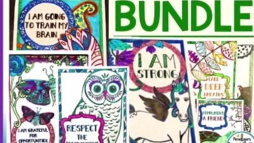 Social Skills BUNDLE / Character Education BUNDLE - Coloring Pages