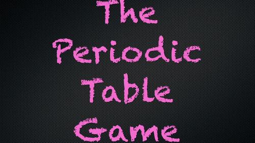 The Periodic Table Game