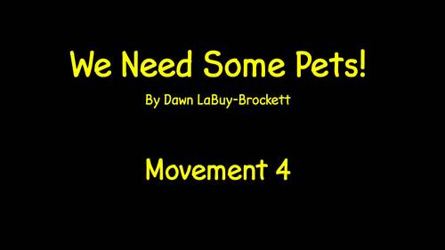 We Need Some Pets! (video of lyrics with piano cues and orchestra)