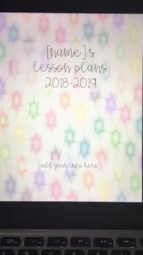 Editable Teacher Binder/Planner/Gradebook Geometric Design with yearly updates!