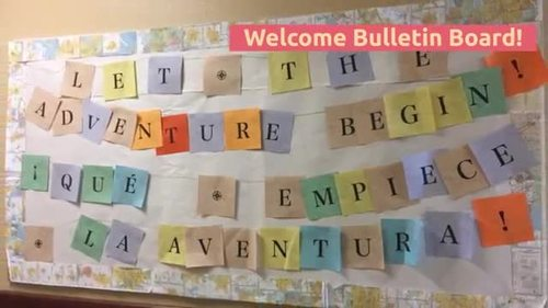 Welcome board - Let the adventure begin ESPAÑOL