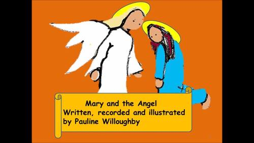 A modern Christmas carol The angel appears to Mary. Simple instrument part.video