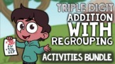 3-Digit Addition with Regrouping: Triple Digit Addition Ga