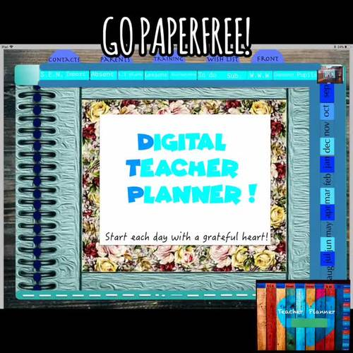 Digital Teacher Planner - Go Paperfree.  Use with Goodnotes App.