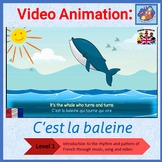 French Immersion -  French song in video animation - C'est