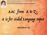 AAC Tips from A to Z A is for Aided Language Stimulation