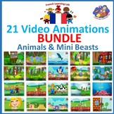 French Immersion - Bundle of Video Animations of 21 popula