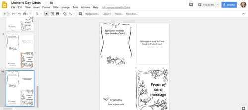 Mothers Day Card Templates In Google Slides By Make Way For Tech - Mothers day card templates