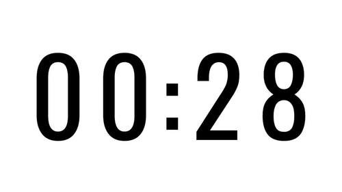 19 Countdown Timers (Style 3) - For use in PowerPoint, Google Slides, Keynote