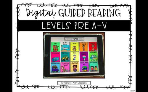 Digital Guided Reading Passages Bundle: Level N-V {Paperless Classroom}