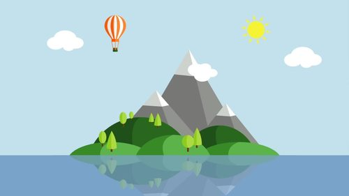 5 Animated Video Backgrounds - Mountain Scenery #1