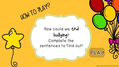 An INTERACTIVE Lesson on Sticking Together to End Bullying, Grades 2-3