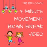 3 Minute Movement Brain Break Video - Just press PLAY!