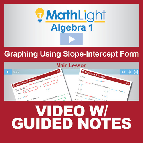 Graphing Using Slope Intercept Form Video Lesson With Guided Notes