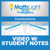 Combinations Video Lesson with Student Notes