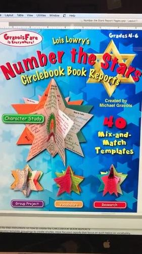 NUMBER THE STARS by Lois Lowry Novel Study and Book Report Project —40 Templates