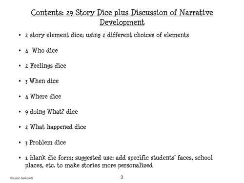 Build Narratives and Tell Stories with Story Element Dice