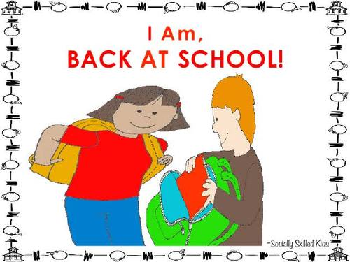 SOCIAL STORY  I Am, Back At School! { Boys and Girls, Elementary }