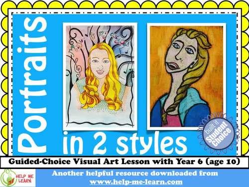 Art: Portraits in 2 Styles
