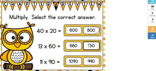 Go Math Chapter 3 Review: Multiply 2-Digit Numbers