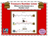 Treasure Number Lines- Where is the Answer on a Number Lin