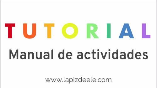 MINI BOOK ACTIVITIES SPANISH