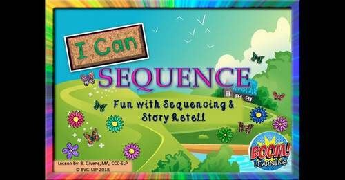 BOOM CARDS Sequencing and Story Retell Spring Edition - Teletherapy NO PRINT