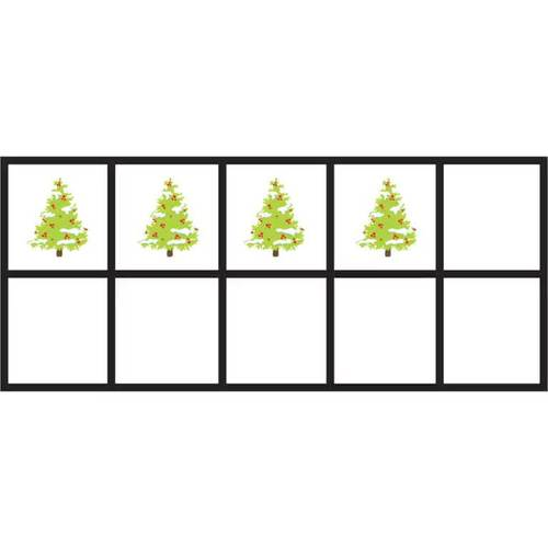 Christmas Tree 10 Frames Math Clip Arts-Set 3 [TeKa Kinderland]