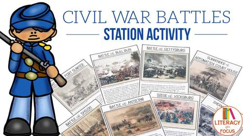 Civil War Battles - Station Activity