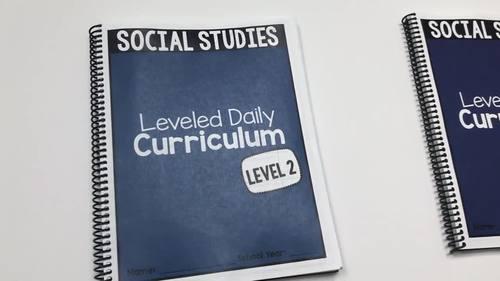 Social Studies Leveled Daily Curriculum {BUNDLE}