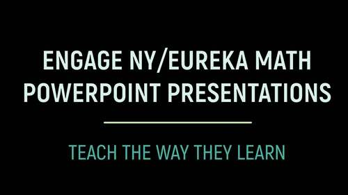 Engage NY/Eureka Math PowerPoint Presentations 1st Grade Module 3 ALL LESSONS!