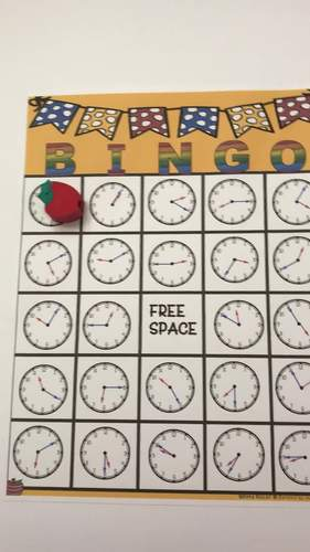 Telling Time Bingo (Nearest 5 Minutes)
