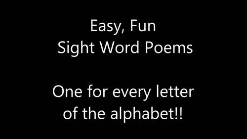 Alphabet Poems with Sight Words
