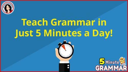 5 Minute Grammar Daily Grammar Worksheets 3rd GRADE Practice and Assessment