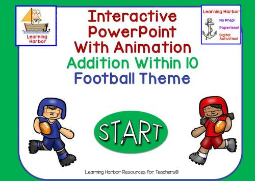 Addition Within 10 Football Theme Animated PowerPoint