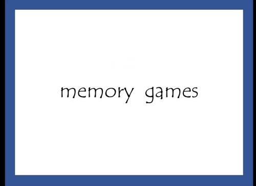 R Memory Games- Initial /R/