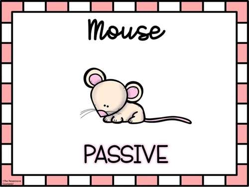 """Assertiveness Lesson Plan: """"Mouse, Monster, and Me"""""""