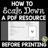 SCALING DOWN BULLETIN BOARD LETTER PRINTABLES OR OTHER PDF