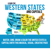 Western States and Capitals Pack