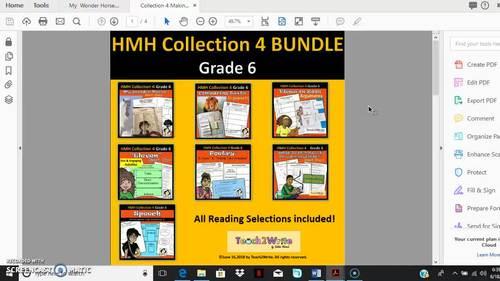 HMH Collection 4  Grade 6 Bundle Making Your Voice Heard