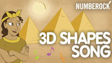 3D SOLID SHAPES Music Video with 3-D Shapes Poster, Game a