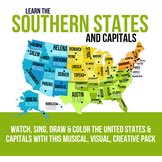 Southern States and Capitals Pack