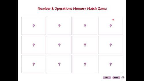 Five Strands of Math: Memory Match Game - NOTEBOOK Gr. 3-5
